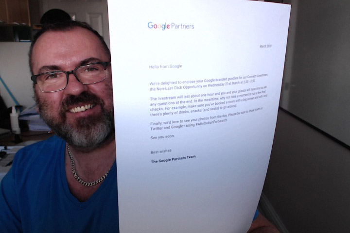 Google Partners marketing kit cover letter
