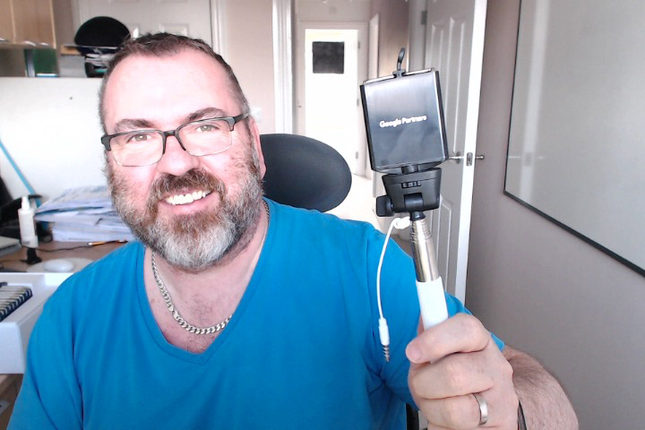 Google Partners marketing kit selfie stick